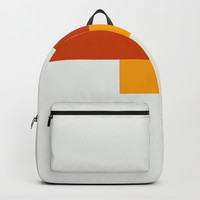 Yellow Meets Crimson Backpack by spaceandlines