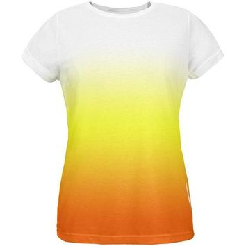 ONETOW Halloween Candy Corn Ombre Costume All Over Womens T Shirt