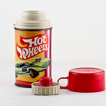 Hot Wheels Mattel 1969 Metal King Seeley Thermos, Complete
