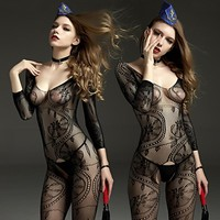 FREE SHIPPING Extreme temptation conjoined fishnet stockings appeal Paisley sexy silk stockings IN STOCK