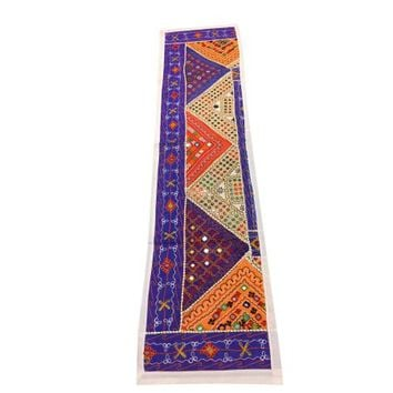 Mogul Ethnic Indian Patchwork Table Runner Vintage Embroidered Wall Hanging Tapestry - Walmart.com