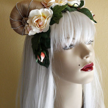 Everything's Coming Up Roses Horned Goddess Headdress