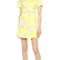 Giambattista Valli Floral Quilted Dress