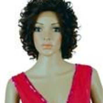 "Remy Human Hair Lace Front Wig '300' (curly) 12"" long"