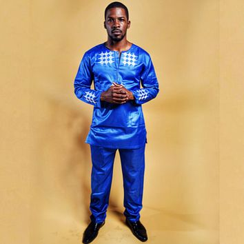 Afamefuna African Men Embroidery Suit