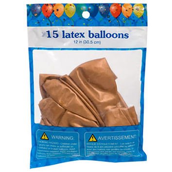 "Bulk Dark Gold Latex Balloons, 12"", 15-ct. Packs at DollarTree.com"