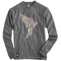 Bastille Grey Parrot Crew Neck Sweatshirt Small