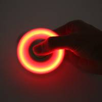 LED Light Hand Finger Spinner Fidget Plastic EDC Hand Spinner For Autism ADHD Relief Focus Anxiety Stress Gift