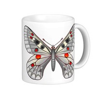 Apollo butterfly coffee mug