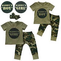 Camouflage Daddy's Boy & Daddy's Girl Set