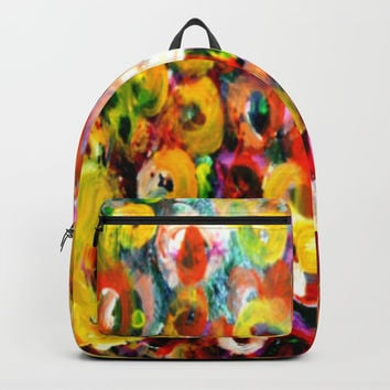 Aboriginal Art - Finger Painting Backpacks by Chris' Landscape Images & Designs