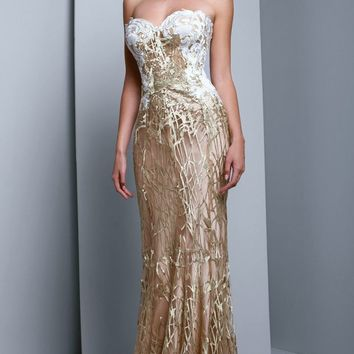 Beside Couture - BC1326 Embellished Strapless Sweetheart Evening Gown