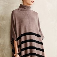 Hem-Striped Poncho