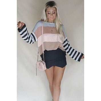 Misty Stripe Breezy Pullover