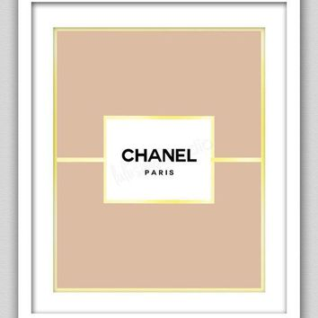 8 X 10 Wall Decor Print Modern Home Decor Chanel Home Decor Chanel Label With Gold Border Print