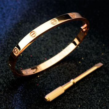 One-nice? Perfect Cartier Woman Fashion LOVE Plated Bracelet Jewelry