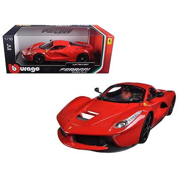 Ferrari LaFerrari F70 Red Black Wheels 1:18 Diecast Model Car by Bburago
