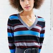 Cooperative Shimmer V-Neck Sweater - Urban Outfitters