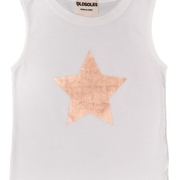 Old Soles Star Performer Tank White