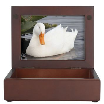 White Duck Wooden Keepsake Box