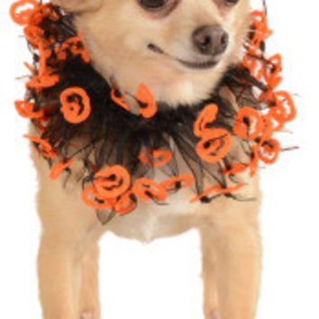 Black and Orange Halloween Fancy Pet Collar