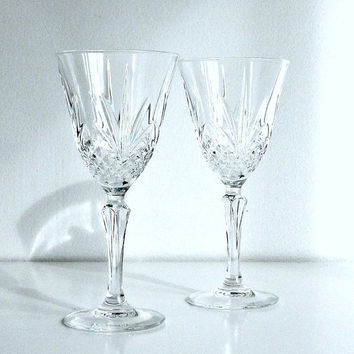 Shop Vintage Cut Crystal Wine Glasses On Wanelo