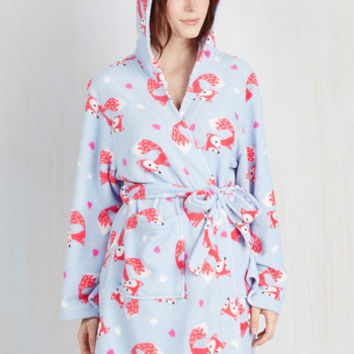 Critters Fauna Friend Robe in Foxes