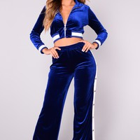 Amandine Velour Set - Royal