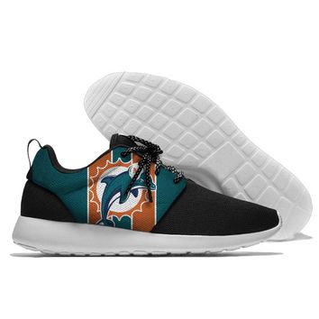 Running Shoes Lace Up Sport Shoes Dolphins Jogging Walking Athletic Shoes light weight from Miami style