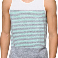 Zine Jazz Mint, White, & Grey Stripe Tank Top