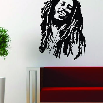 Bob Marley Version 2 People Music Reggae Rasta Decal Sticker Wall Vinyl Decor Art