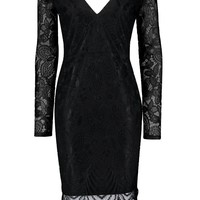 Clara Lace Back Cut Out Detail Bodycon Dress