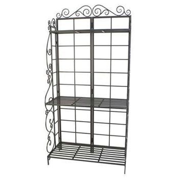 Bakers Rack Plant Stand Brnz