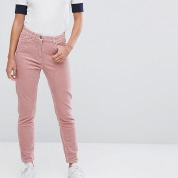 Monki Cord Slim Trousers at asos.com
