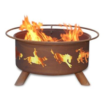 Western Steel Fire Pit by Patina Products