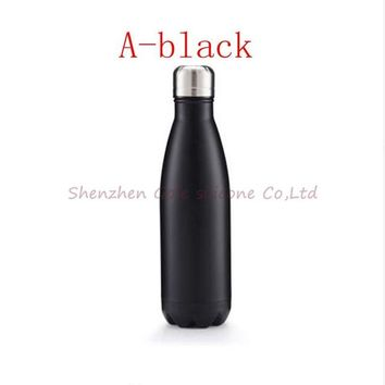 Family Friends party Board game 10pcs 11color 500ml Vacuum Cup Coke Bottle Creative Insulation Cup With Stainless Steel Coffee Water Bottle Bowling Shape AT_41_3