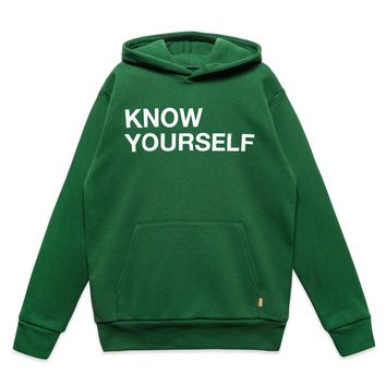 KNOW YOURSELF HOODY - FOREST GREEN