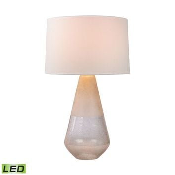 Two Tone Glass LED Table Lamp Clear