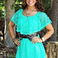 Sweet Melissa Dress in mint