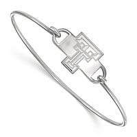 NCAA Sterling Silver Texas Tech University Small Bangle, 7 Inch