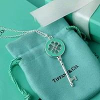 Tiffany & Co. Chinese knot enamel key necklace sweater Chain