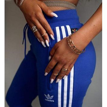 LMFON Adidas Fashion Stripe Casual Sport Pants Trousers Sweatpants