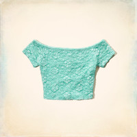 Emma Wood Lace Crop Top