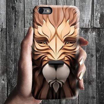 Lion iPhone Case 6, 6S, 6 Plus, 4S, 5S. Mobile Phone Cell. Art Painting. Gift Idea Anniversary. Gift for him and her