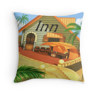 'Costa Del Sol 4' Throw Pillow by likelikes