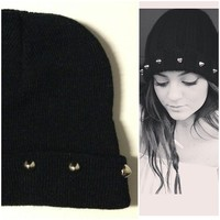 GRUNGE STUDDED BEANIE  from Grunge Supply