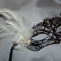 Metal Masquerade Mask in Black and White