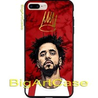 Best Hot J-Cole Art Red Marble CASE COVER iPhone 6s/6s+/7/7+/8/8+, X