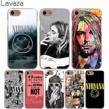 Lavaza High Quality Phone Cases Nirvana Kurt Cobain Hard Transparent Cover Case for iPhone X 10 8 7 6 6S Plus 5 5S SE 5C 4 4S