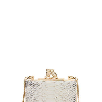 Kate Spade Wedding Belles Love Owls Clutch Off White ONE